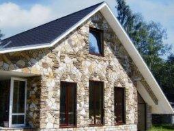 Применение природного камня во время строительства частного дома